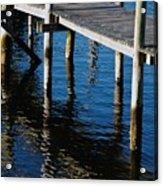 Pier Reflection Acrylic Print