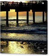 Pier Reflections Acrylic Print