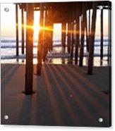 Pier Shadows Acrylic Print