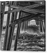 Pier Storm Acrylic Print