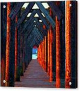 Pier Symmetry   Acrylic Print