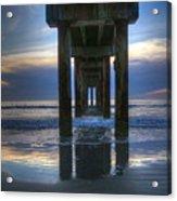 Pier View At Dawn Acrylic Print