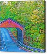 Pierce Stocking Covered Bridge In Sleeping Bear Dunes National Lakeshore-michigan Acrylic Print