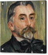 Pierre-auguste Renoir 1841-1919 Portrait Stephane Mallarme Acrylic Print