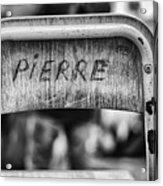 Pierre Acrylic Print