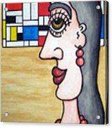 Pierrette Meeting Piet... - Pierrette Rencontre Piet... Acrylic Print