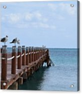 Piers By The Ocean2 Acrylic Print