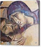 Pieta-mural Detail Acrylic Print