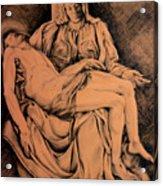 Pieta Study Acrylic Print