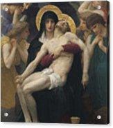 Pieta Acrylic Print by William-Adolphe Bouguereau