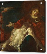 Pieta With Mary Magdalene Acrylic Print