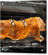 Pig Plus Barbecue Equals Mmmm Good Acrylic Print by Christine Till