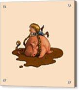 Pig Tales Acrylic Print