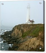 Pigeon Point Light In A Mist Acrylic Print