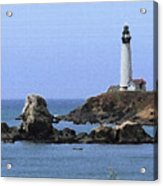 Pigeon Point Lighthouse - Palette Knife Acrylic Print
