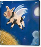 Pigs Might Fly Acrylic Print