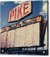 Pike Drive-in Acrylic Print