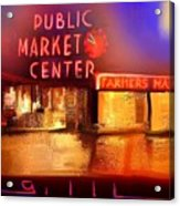 Pike Place Market Acrylic Print