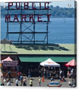 Pike Place Public Market Acrylic Print