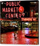 Pike Place Reflections Acrylic Print