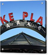 Pike Street Market Sign Acrylic Print