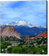 Pikes Peak And Garden Of The Gods 1 Acrylic Print