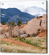 Pikes Peak From Red Rock Canyon Acrylic Print