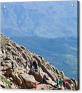 Pikes Peak Marathon And Ascent Acrylic Print