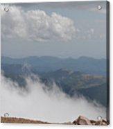 Pikes Peak Summit Clouds Acrylic Print