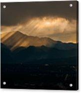 Pikes Peak Sunset Acrylic Print