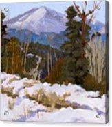 Pikes Peak Winter View Acrylic Print