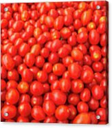Pile Of Small Tomatos For Sale In Market Acrylic Print