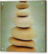 Pile Of Stones Acrylic Print by Bernard Jaubert