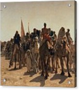 Pilgrims Going To Mecca Acrylic Print by Leon Auguste Adolphe Belly