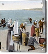 Pilgrims Washing Day, 1620 Acrylic Print