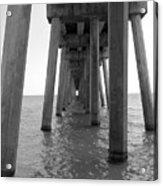Black And White Pier Acrylic Print