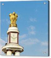 pillar for the 50th anniversary of India, Chennai, Tamil Nadu Acrylic Print