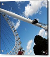 Pillar Of London S Ferris Wheel  Acrylic Print