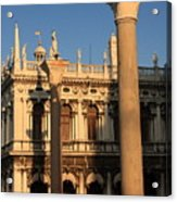 Pillars At Piazzetta San Marco In Venice Acrylic Print