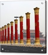 Pillars At Tiananmen Square Acrylic Print