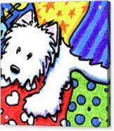 Pillow Pile Westie Acrylic Print