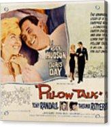 Pillow Talk, Doris Day, Rock Hudson Acrylic Print by Everett