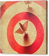 Pin Plane Darts Hitting Goals Acrylic Print
