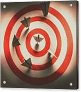 Pin Point Your Target Audience Acrylic Print