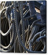 Pin Rail And Rope Acrylic Print