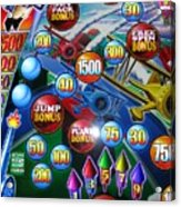 Pinball Wizard-the Signs Of The Times Collection Acrylic Print