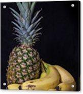 Pineapple And Bananas Acrylic Print