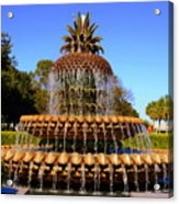Pineapple Fountain Charleston Sc Acrylic Print