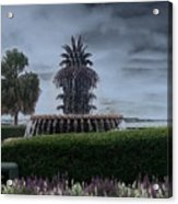Pineapple Fountain Acrylic Print