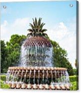 Pineapple Fountain In Charleston South Carolina Acrylic Print